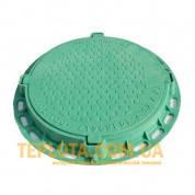 Люк полимерный садовый 1,5 т круглый зеленый