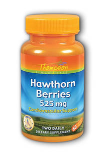 Боярышник Thompson Hawthorn Berries 525 мг  60 капс.