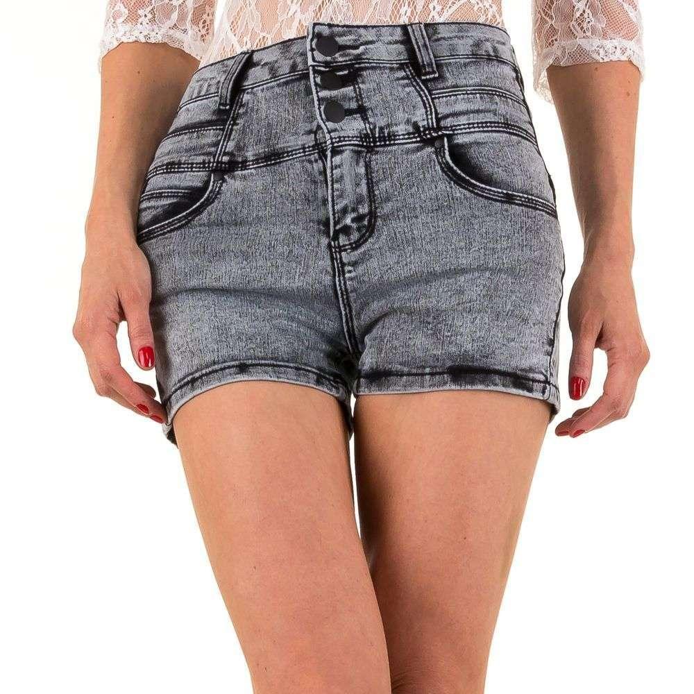 Шорты джинсовые с высокой талией от Daysie Jeans (Европа) Cерый