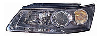 Фара левая Hyundai Sonata V (NF) (дорестайл) 2005 - 2007, электр., желтый повортник, без сервопривода, (Depo, 221-1138L-LDEM2) OE 921013K020 - шт. OE