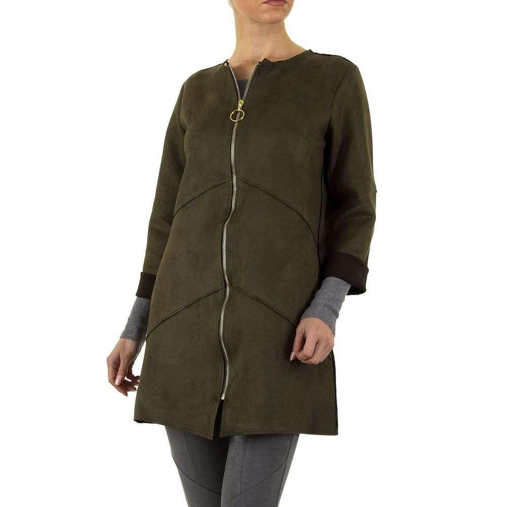 Куртка женская свободная на молнии (Европа), Хаки