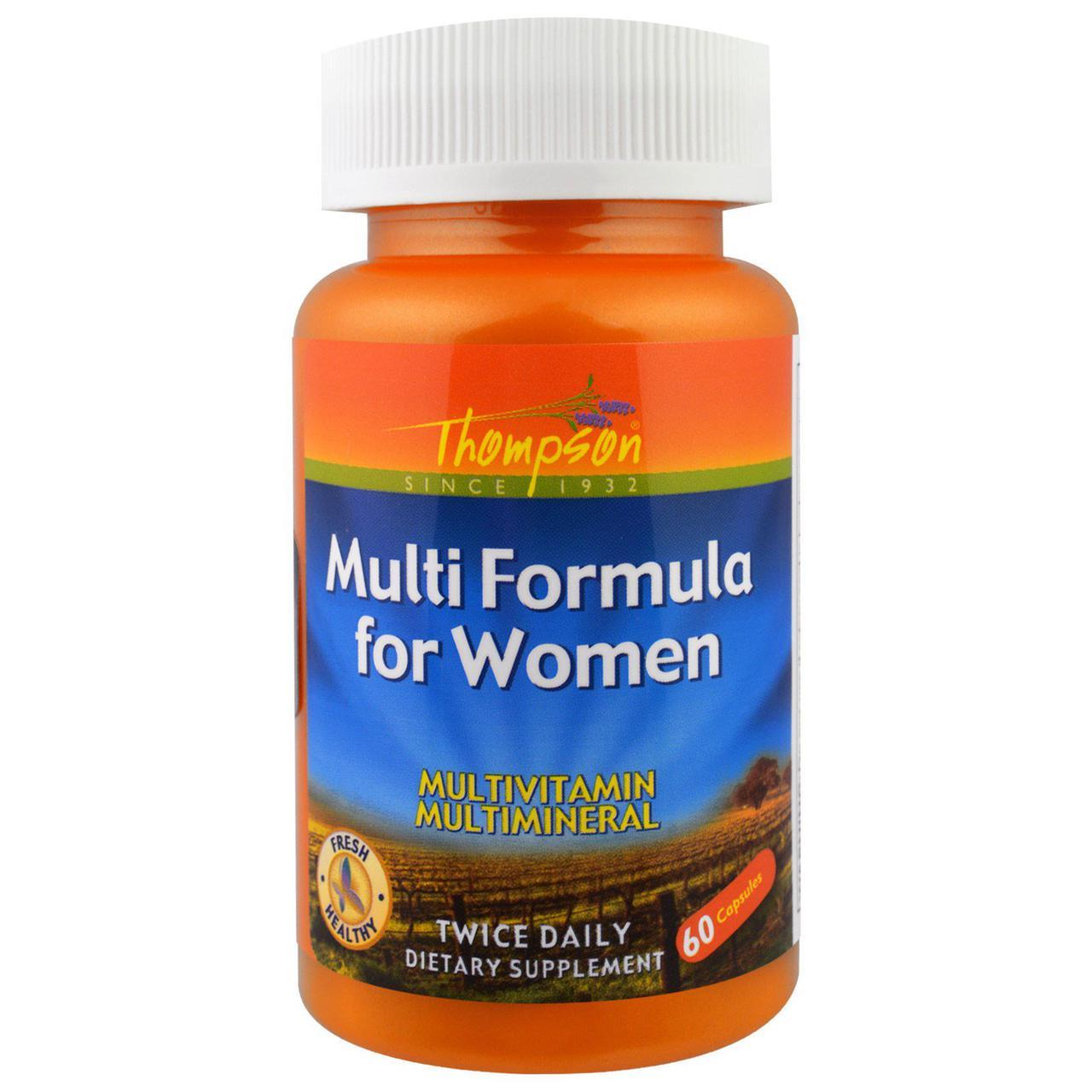 Витамины для женщин Thompson Multi Formula for Women 60 капс на 30 дней