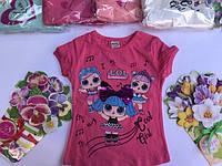 Летняя футболка для девочек от 2 до 5 лет.