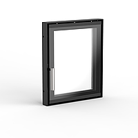 Дверца для камина 320×380 мм серийная / стекло деко