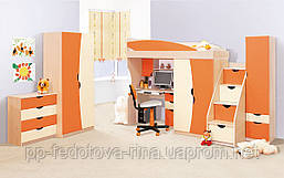Детская комната Саванна оранж-ваниль (ДСП)