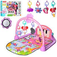 Килимок для малюків 800*490 мм з піаніно 988-123, рожевий, фото 1