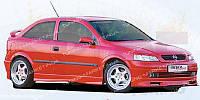 """Накладка """"Rieger"""" на передний бампер для Opel Astra G"""