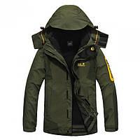 Куртка зимняя с подстежкой Jack Wolfskin оригинал оливковая