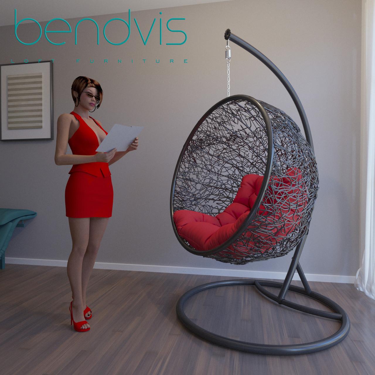 Ротанговое кресло подвесное Натали.