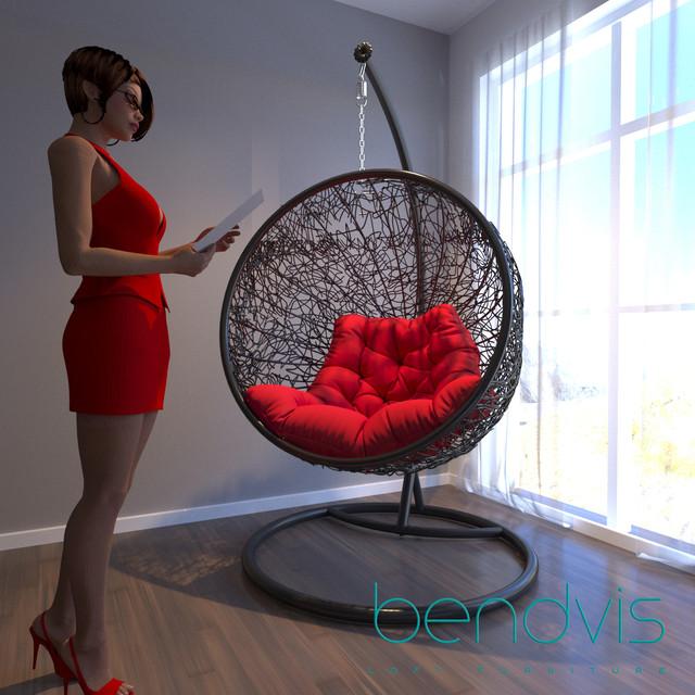 Подвесное круглое кресло шар