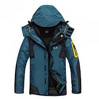 Куртка зимняя с подстежкой Jack Wolfskin оригинал синяя