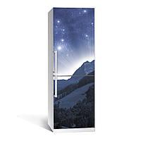Наклейка виниловая на холодильник Космос 01 двойная ламинация (пленка самоклеющаяся, небо, звезды)