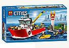 """Конструктор Bela 10830 (Аналог Lego City 60109) """"Пожарный катер"""" 450 деталей, фото 3"""