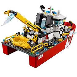 """Конструктор Bela 10830 (Аналог Lego City 60109) """"Пожарный катер"""" 450 деталей"""