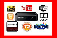 Приставка Т2 Цифровой ТВ тюнер MEGOGO DVBT2 ресивер FTA с IPTV, Wi-Fi, Youtube, USB Акция! Скидки! Супер цена!