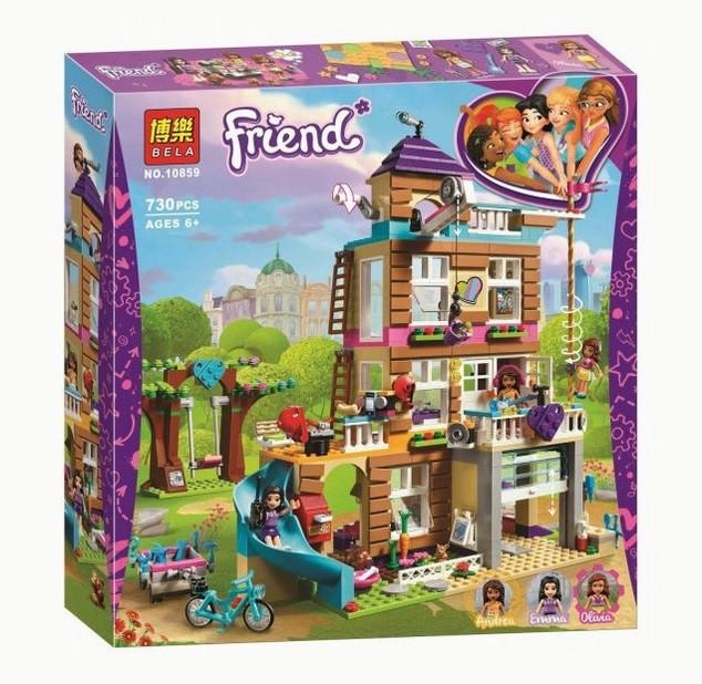 Конструктор Bela 10859 Френдс Дом дружбы (аналог Lego Friends 41340) 730 дет., в собран.кор. 38*40*8см