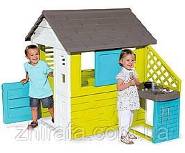 Игровой детский домик с кухней Smoby Pretty 810711