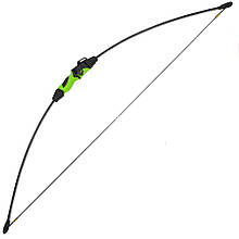 Лук Man Kung RB015 (длина: 1110мм, сила натяжения: 5,4кг), комплект, черный/зелёный