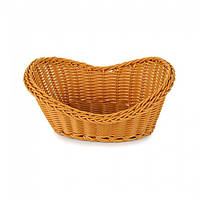 Плетённая корзинка для хлеба коричневая Helios