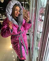 Двухстороннее женское пальто 096  дор Код:861592806