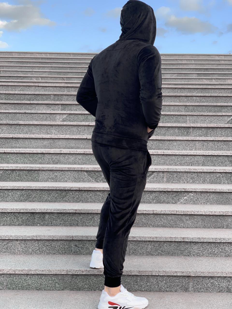 b08e47dc Спортивный костюм Philipp Plein D4742 черный велюровый - купить по ...