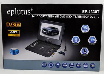 """Портативний DVD плеєр Eplutus EP-1330T цифровим тюнером 14.1"""" DVD з Т2 двд переносне в машину"""