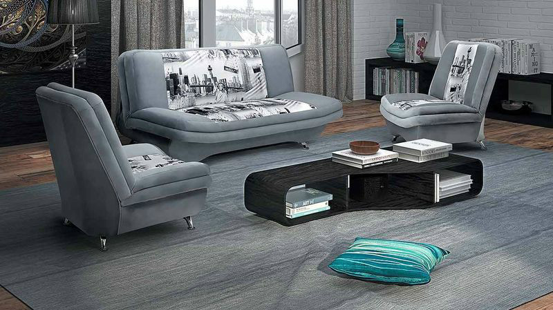 Комплект Мерсель, диван + 2 кресла