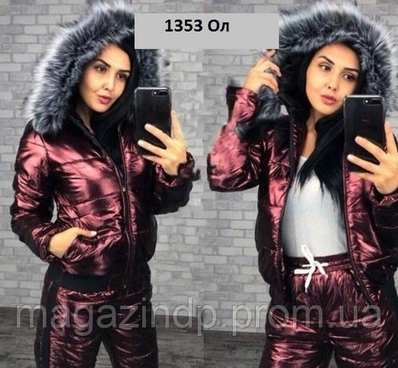 Зимний женский костюм 1353 Ол Код:844982519