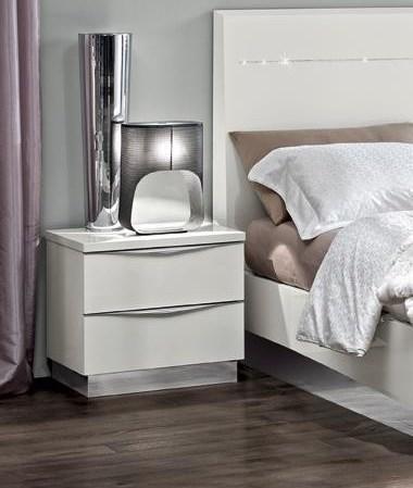 Тумба прикроватная мини Onda Bianco белый глянец Modum от Camelgroup