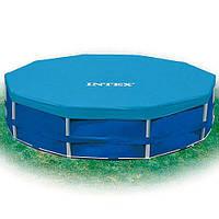 Тент 28031 (6шт)  для круглых каркасных бассейнов, диаметр 366см, в кор-ке, 30,5-27-10см