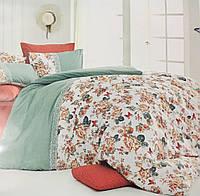Постельное белье двухспальное ранфорс Nazenin Butterfly Kiremit