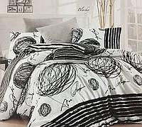 Постельное белье двухспальное ранфорс Nazenin Grey