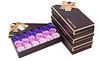 Мыло ароматическое в виде бутонов роз, набор из 18 штук!
