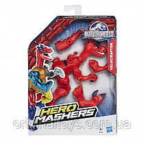 Разборная фигурка Динозавр Велоцираптор Мир Юрского Периода Velociraptor Hero Mashers Jurassic World B2160