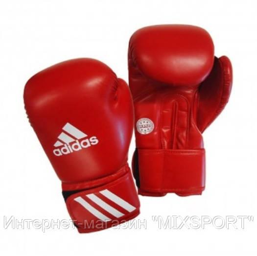 Боксерские перчатки adidas WAKO. Цвет красный