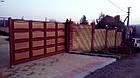 """Ворота филенчатые """"линза"""" двухцветные, фото 3"""