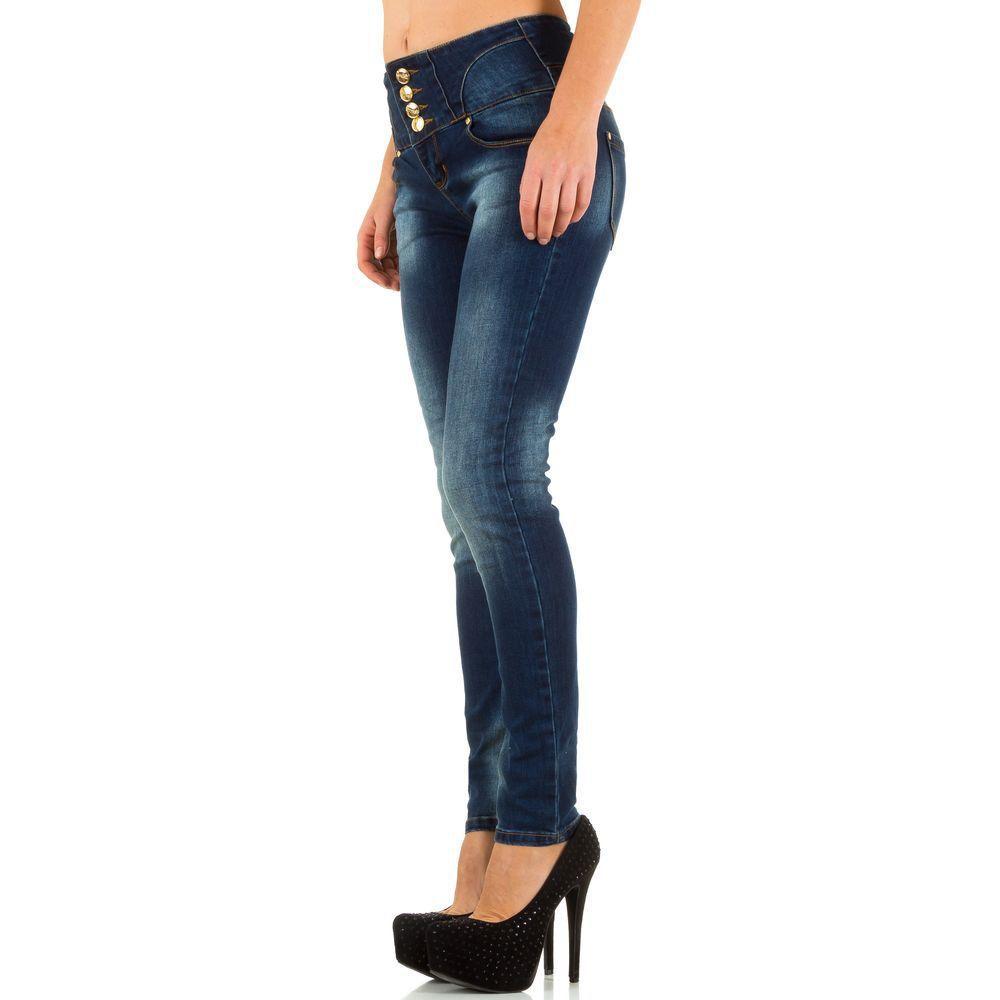 Женские джинсы от Que Rmes - синий - KL-J-16022-синий