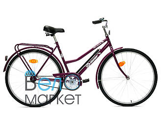 Велосипед АИСТ 28-240 / AIST City classic / Фиолетовый /Вареная рама / Женский ,дорожный  (Толстая рама)