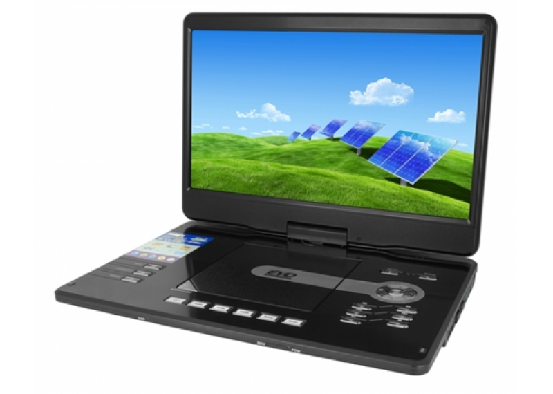 Портативний DVD програвач Eplutus EP-1606 DVD плеєр з тюнером Т2 автомобільний телевізор