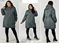 Удлиненная куртка свободного фасона, с 50-60 размер, фото 1
