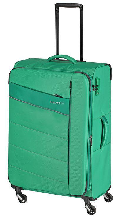 Чемодан большой тканевый Travelite KITE TL089949-83 95/109 л, зеленый