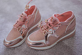 Женские кроссовки сникерсы в  стиле Dior Champagne люрекс  весна лето  36-40 новинка