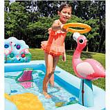 Надувной игровой центр Intex 57161 Аквапарк Джунгли 257 x 216 x 84 см, с горкой,пальмы, фламинго, обезья, фото 6
