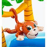 Надувной игровой центр Intex 57161 Аквапарк Джунгли 257 x 216 x 84 см, с горкой,пальмы, фламинго, обезья, фото 7