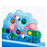 Надувной игровой центр Intex 57161 Аквапарк Джунгли 257 x 216 x 84 см, с горкой,пальмы, фламинго, обезья, фото 9