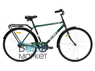 Велосипед АІСТ 28-130 / AIST City classic /Зелений /Варена рама / Жіночий ,дорожній, міський (Товста рама)