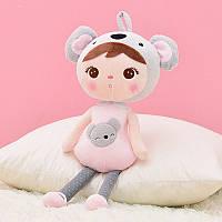 Мягкая игрушка велюровая кукла в костюме коалы, 46см