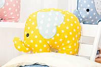 Декоративная подушка Слоник желтый/звезда 45*38