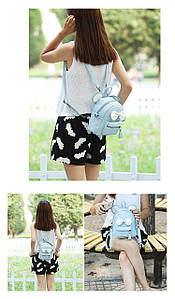 Рюкзак Микки Маус с ушками - голубой Код 10-6435