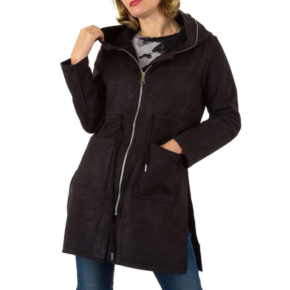 Пальто на молнии с капюшоном Shk Paris (Франция) Черный